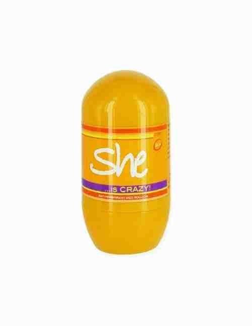Desodorante en rollon on She is crazy de mujer