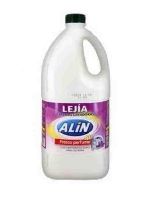 Lejía de ropa para uso en la lavadora marca Alin