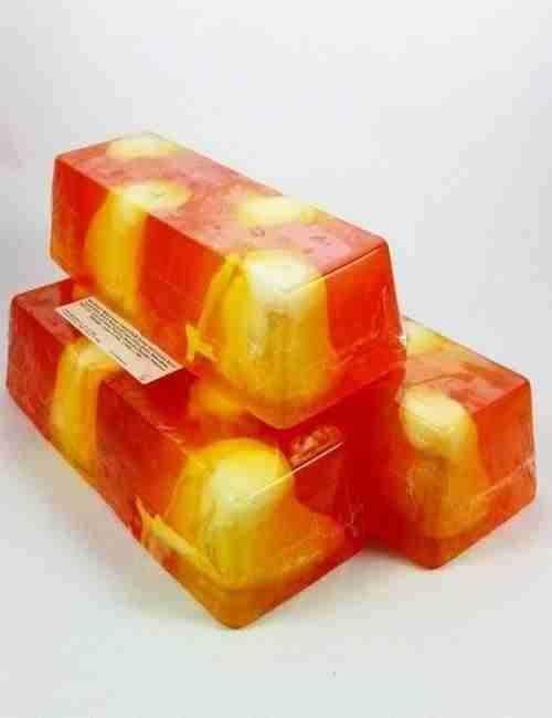 Jabón para todo el cuerpo y cara de glicerina con Melocoton