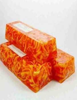 Jabón para todo el cuerpo y cara de glicerina con Mandarina