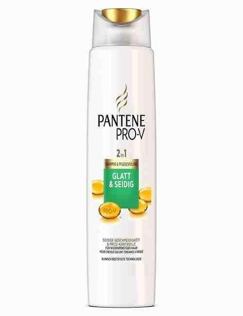 Champu y Acondicionador 2 EN 1 para cabello Liso y Sedoso marca Pantene