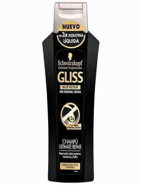 Champú Ultimate Reparador marca Gliss formato 250 ml