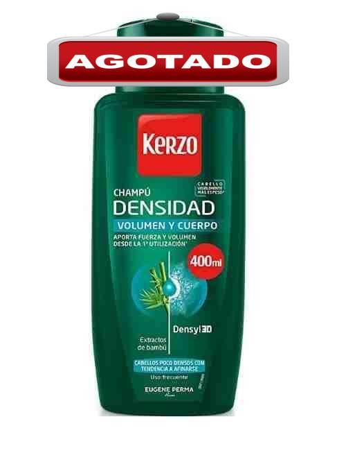 Champú para darle densidad y volumen al cabello marca Kerzo