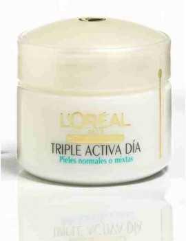 Crema de Cara triple Acción marca Loreal