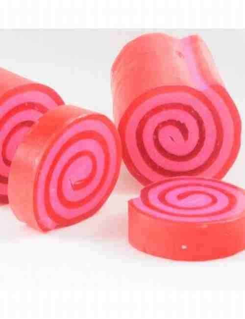 Jabón de Glicerina aroma Fresa en un formato muy simpático enrollado
