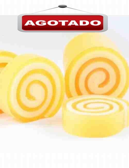 Jabón de Glicerina aroma Mandarina en un formato muy simpático enrollado