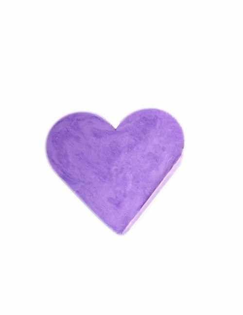 Jabón en forma de corazón aroma Lavanda