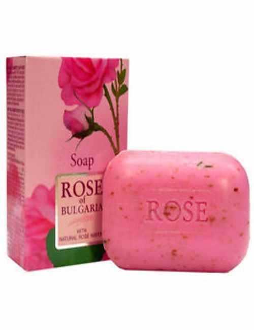 Jabón natural para cara y cuerpo con Rosa de Bulgaria
