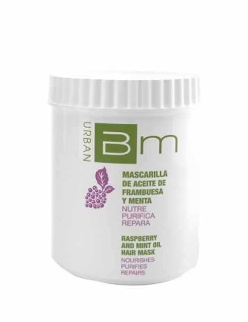Mascarilla marca Blumin aroma a Frambuesa y Menta formato tarro con 700 ml