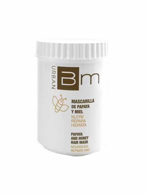 Mascarilla marca Blumin aroma a Papaya y Miel formato tarro con 700 ml