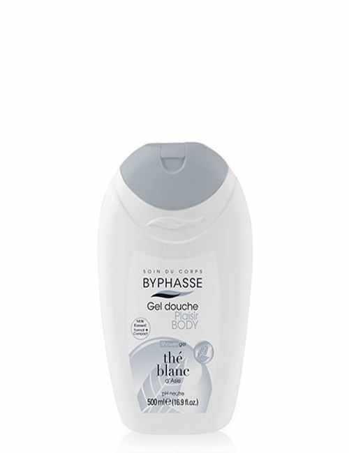 Gel de Ducha con Te Blanco higiene y suave con tu piel marca Byphasse