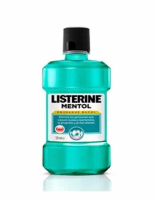 Enjuague Bucal para el cuidado de dientes y encías Mentol marca Listerine