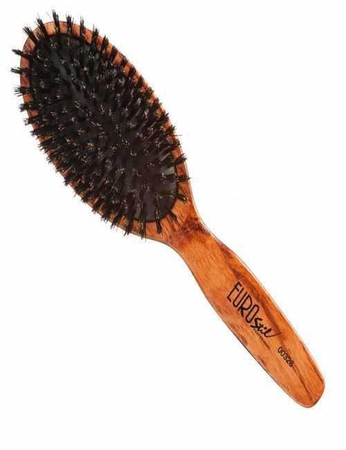 Cepillo de madera grande con púas naturales de Jabalí