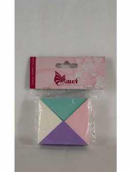 Esponja maquillaje en forma triangulo 4 unidades