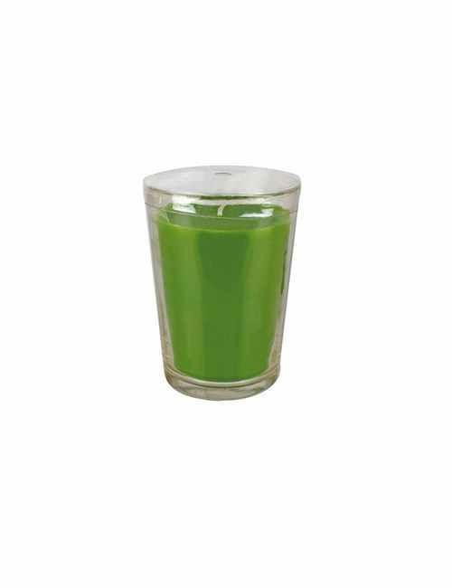 Vela con un vaso Grande para usar directamente en el recipiente con aroma a Manzana