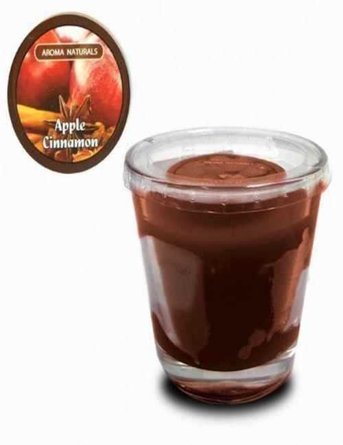 Vela con un vaso Grande para usar directamente en el recipiente con aroma a Canela Manzana