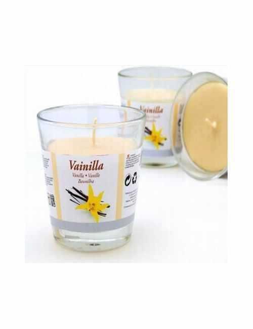 Vela con un vaso Grande para usar directamente en el recipiente con aroma a Vainilla