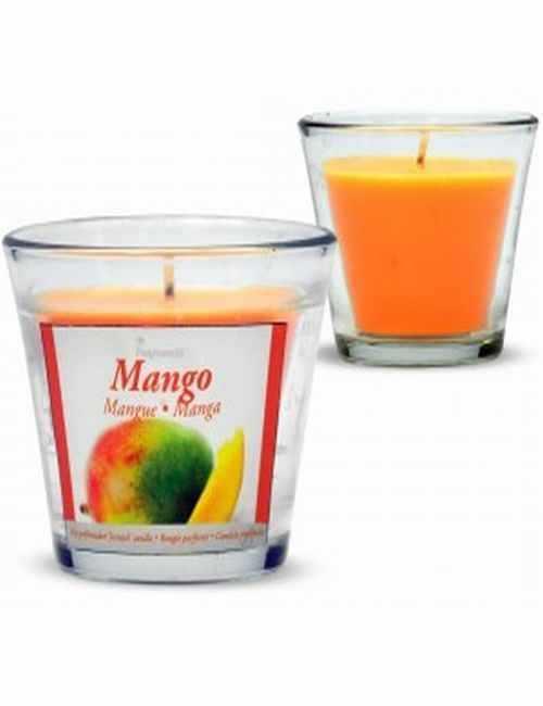 Vela con un vaso Grande para usar directamente en el recipiente con aroma a Mango