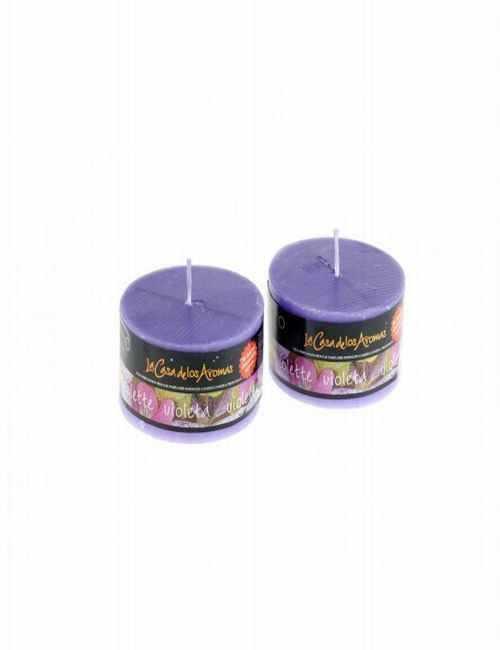 Vela con aroma a Violetas un agradable aroma para tu hogar