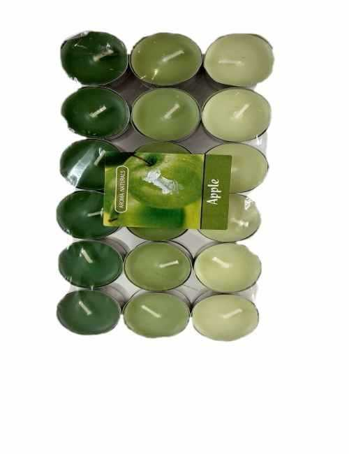 Velas formato Tea aroma a Manzana contiene 36 unidades