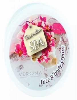 Crema Facial y Corporal con Orquídeas y Seda marca Verona con un agradable aroma