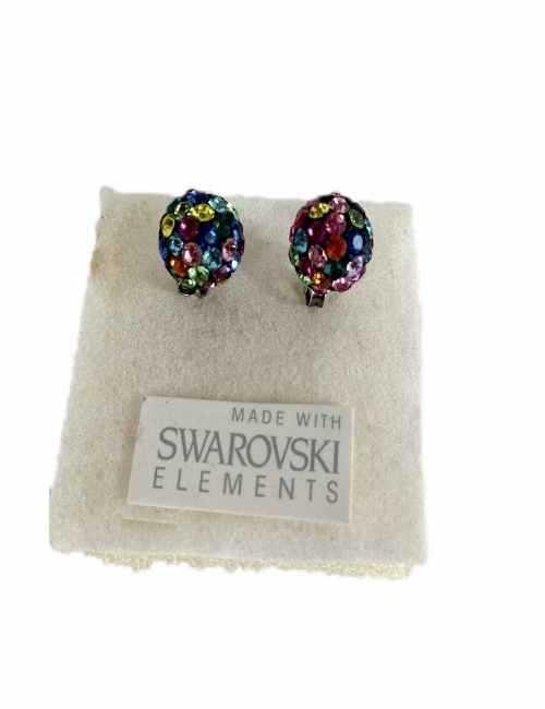 Pendiente de Bola con cristales de Swarovski de colores