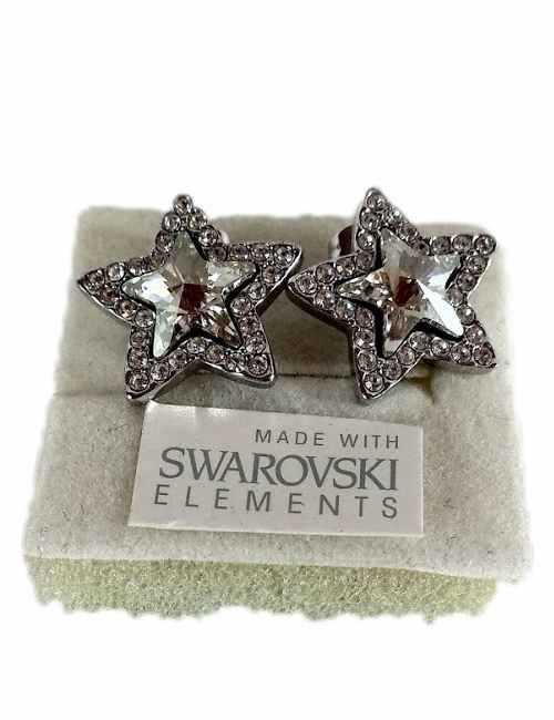 Pendientes con cristales de Swarovski en forma de estrella
