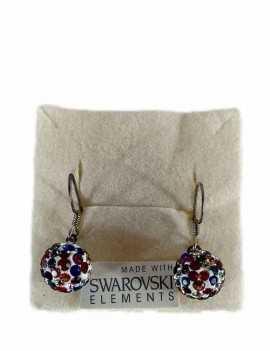 Pendientes de bola para colgar con cristales de Swarovski con colores
