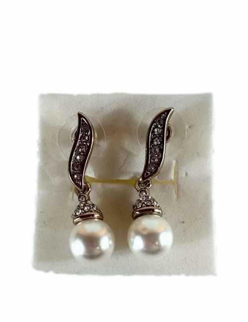 Pendientes de Colgar con perla color oro