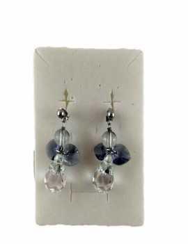 Pendientes en forma de angel con Cristales de Swarovski y las Alas son de Color Lila