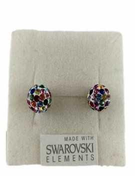 Pendientes de Bola con cristales de Swarovski de colores