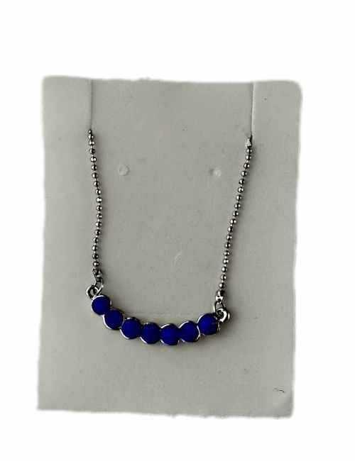 Colgante con cristales de Swarovski en color Azul