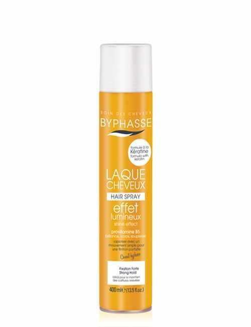 Laca para el cabello con efecto luminoso fija tus peinados