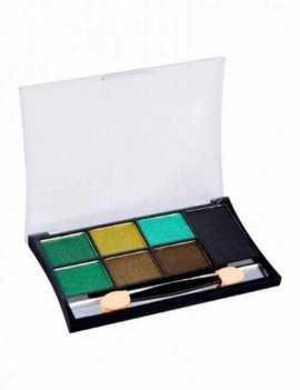 Paleta de Sombras de Ojos en tonos Verdes y Negro alta pigmentación