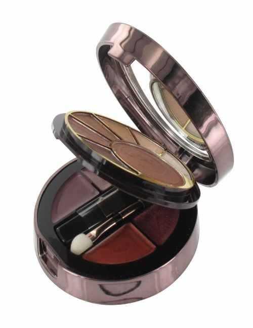Cajita de maquillaje con Sombras de ojos Marrón y labiales