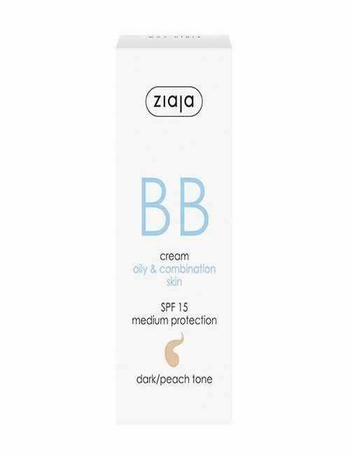 BB Cream para cara pieles mixtas y grasas con un color oscuro melocotón