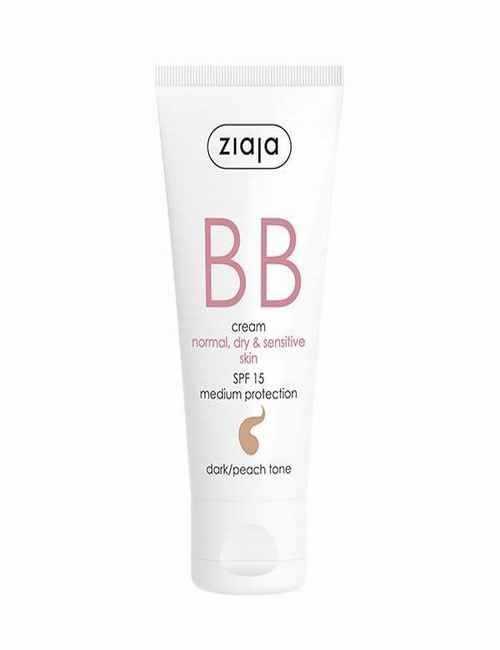 BB Cream para cara pieles Normales Secas y Sensibles con un Tono Oscuro Melocotón