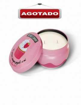 Vela perfumada aroma a Fresa Nata con dos mechas