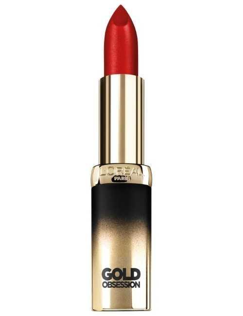 Pintalabios cremoso color Oro Rojo muy favorecedor marca Loreal