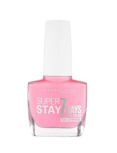 Pintauñas marca MAYBELLINE color rosa pastel efecto Gel 7 Días