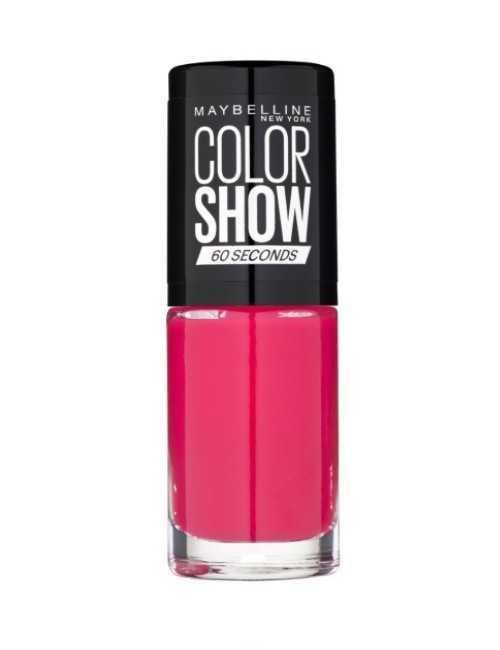 Pintauñas marca MAYBELLINE color rosado fuerte secado rápido 60 segundos