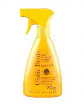Aceite Bronceador en formato Spray SPF 20 marca Gisele Denis 300 ml