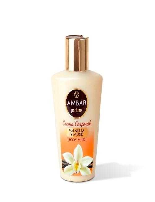 Crema Corporal hidratante con aroma a Vainilla y Musk. Tamaño ideal para viaje