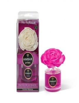 Mikado en flor aroma a Frutas de la Pasión marca Ambar