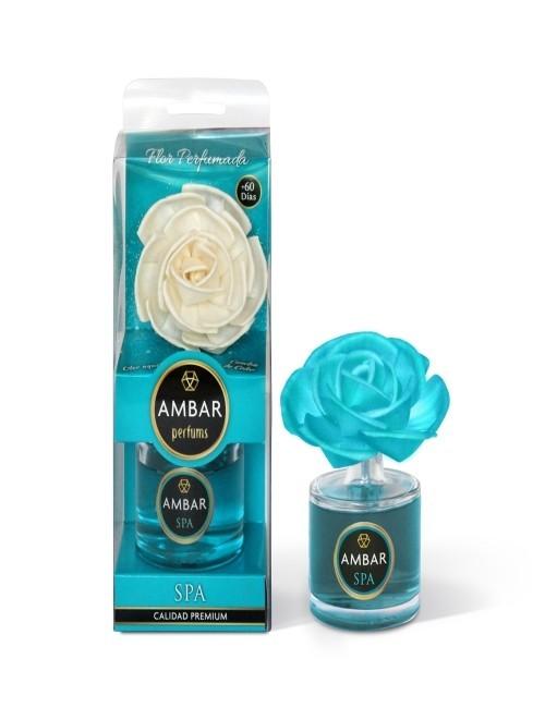 Mikado en flor aroma a Spa marca Ambar