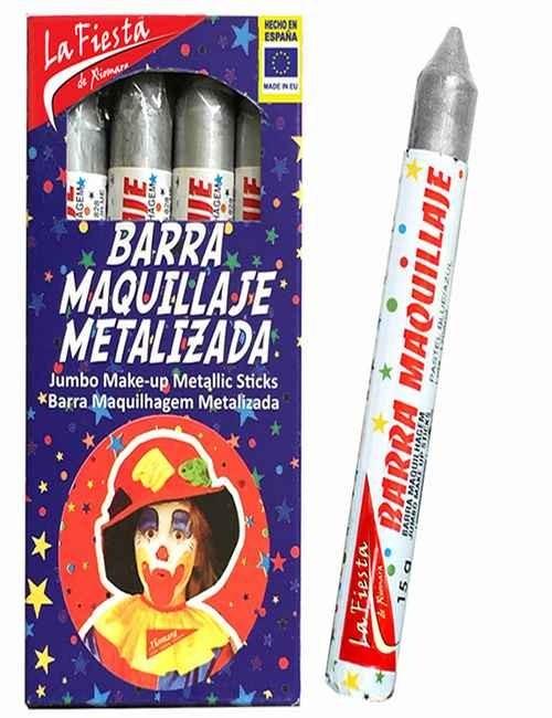 Pintura de Carnaval para el rostro color Plateado