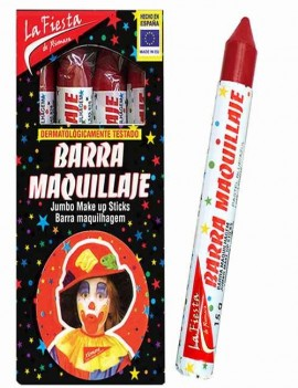 Maquillaje Carnaval color Rojo