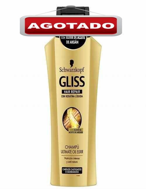 Champu Ultimate para nutrir el cabello y evitar las roturas marca Gliss