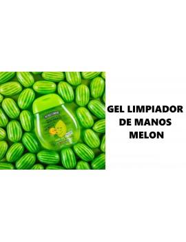 gel higienizante limpiador de manos olor a melón