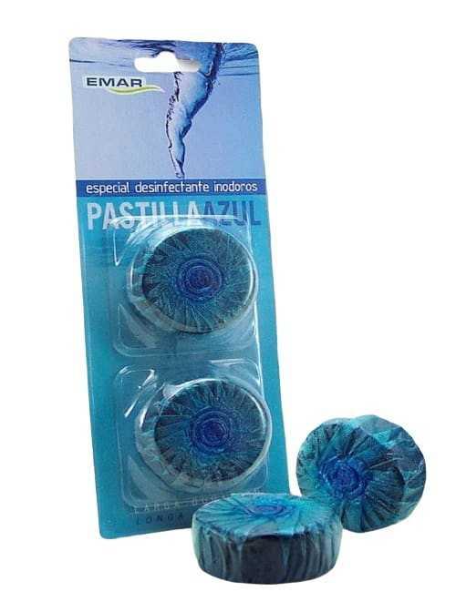 Pastillas desinfectantes de agua azul para tu inodoro